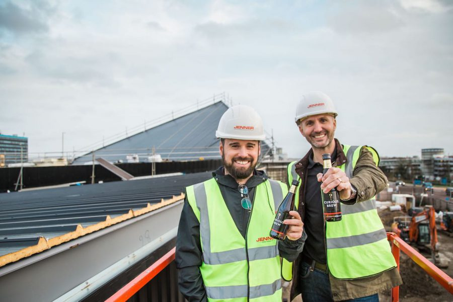 Curious Brewery Ashford Topping Out Ceremony