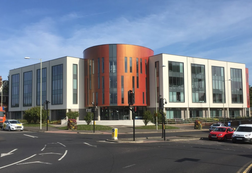 The brand-new Ashford College, on Elwick Road, Ashford, Kent