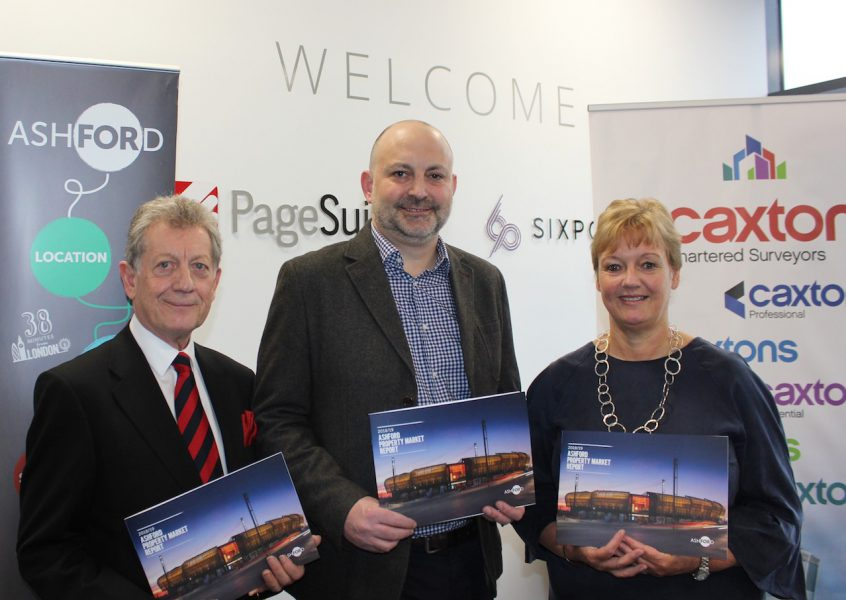 Ron Roser, Ross Murphy and Tracey Kerly at the Ashford Property Market Launch