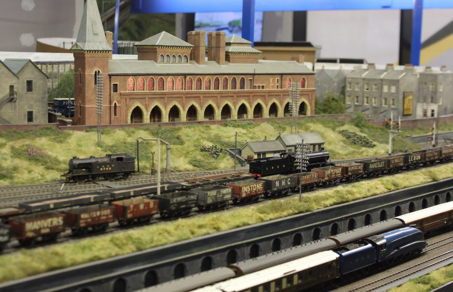 The model railway sets at AIMREC at Elwick Place in Ashford